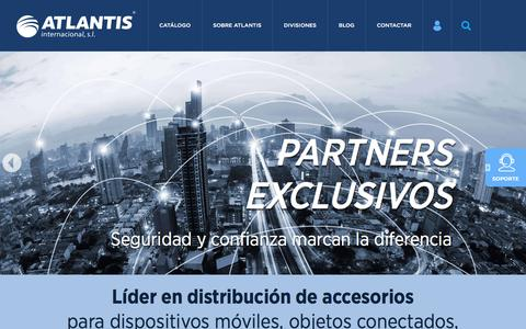 Screenshot of Home Page atlantistelecom.com - Home - Atlantis Internacional - captured Oct. 9, 2017