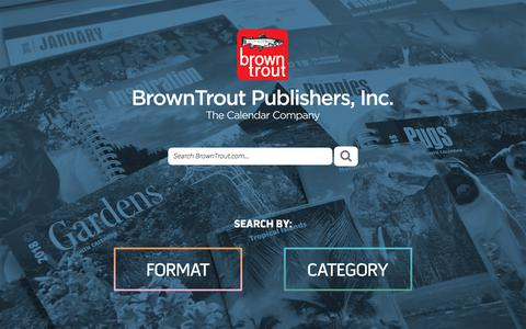 Screenshot of Home Page browntrout.com - BrownTrout Publishers - The Calendar Company - captured Aug. 3, 2018