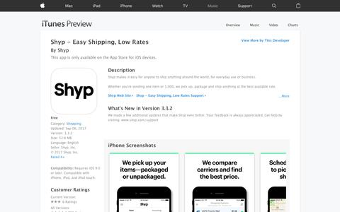 Shyp - Easy Shipping, Low Rates on the App Store