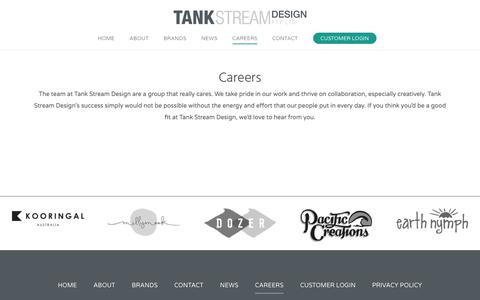 Screenshot of Jobs Page tankstreamdesign.com - Careers - Tank Stream Design - captured Oct. 20, 2018