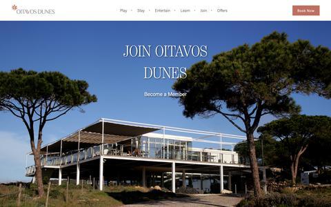 Screenshot of Signup Page oitavosdunes.com - Join - Oitavos Dunes Membership, Cascais, Lisbon - captured Nov. 15, 2018