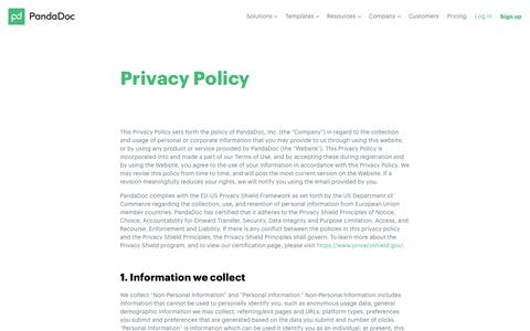 Privacy Policy - PandaDoc