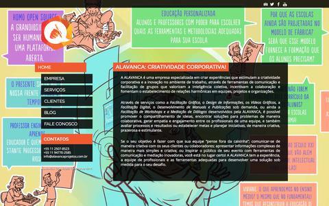 Screenshot of Home Page alavancaprojetos.com.br - CRIATIVIDADE CORPORATIVA: Facilitação Gráfica, Vídeo Gráfico, Design de Informações, Facilitação de Processos - captured Oct. 6, 2017