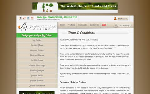 Screenshot of Terms Page gardenbuildingsonline.com - Terms & Conditions | Garden Buildings Online - captured Oct. 22, 2014