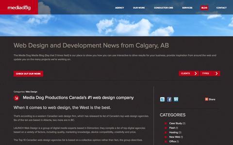 Screenshot of Blog mediadog.ca - Media Dog Blog | Media Dog Productions Inc. - captured Oct. 4, 2014