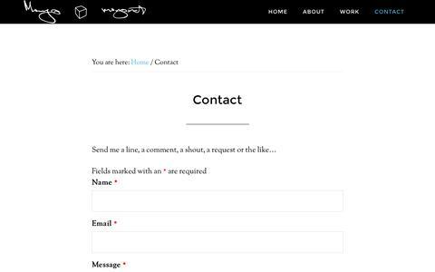 Screenshot of Contact Page mingo.net - Contact - captured Feb. 13, 2016