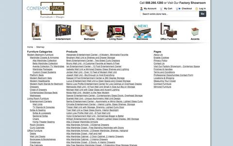 Screenshot of Site Map Page contempospace.com - Modern Furniture   Contemporary Furniture   Contempo Space - captured July 21, 2018