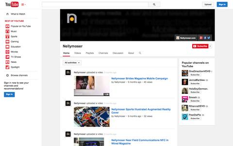 Screenshot of YouTube Page youtube.com - Nellymoser  - YouTube - captured Oct. 25, 2014
