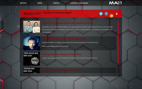 Screenshot of Press Page majorartistdepartment.com - Major Artist Department - captured Oct. 4, 2014