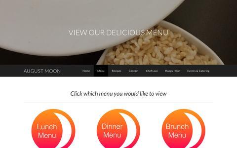 Screenshot of Menu Page augustmoonbistro.com - Menu - August Moon - captured April 27, 2017