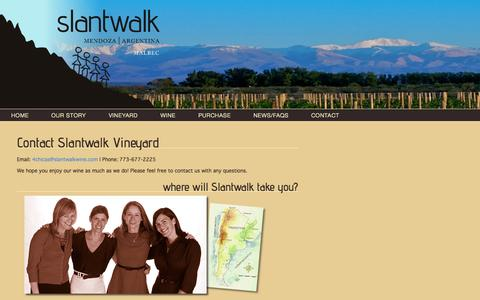 Screenshot of Contact Page slantwalkwine.com - Contact Slantwalk Vineyard | Slantwalk Wine - captured Oct. 26, 2014