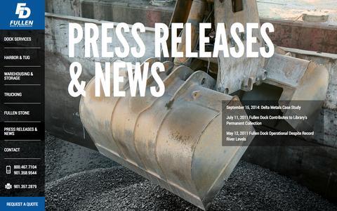 Screenshot of Press Page fullendock.com - Fullen Dock - captured Oct. 1, 2014