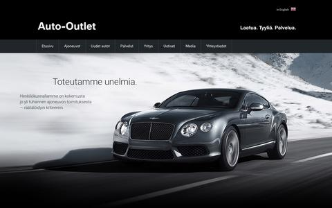 Screenshot of Home Page auto-outlet.fi - Täyden palvelun autokauppa | Auto-Outlet Helsinki/Tampere - captured Jan. 23, 2016