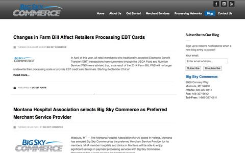 Screenshot of Blog bigskycommerce.com - Big Sky Commerce | Commerce Conversations - captured Sept. 30, 2014