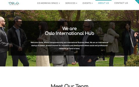 Screenshot of About Page oslointernationalhub.com - About Us | Oslo International HUB - captured Jan. 17, 2018