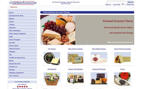 Screenshot of Home Page gourmet-food.com - Gourmet Cheese | Gourmet Food | Caviar | Imported Specialty Food | Online - captured Sept. 29, 2018