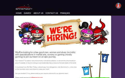 Screenshot of Jobs Page gamerizon.com - Looking for a career at Gamerizon? - captured July 19, 2014