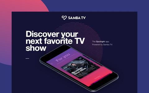 Screenshot of Home Page samba.tv - Samba TV - captured July 17, 2018