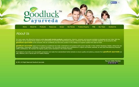 Screenshot of About Page goodluckayurveda.com - Goodluck Ayurveda - captured Sept. 30, 2014