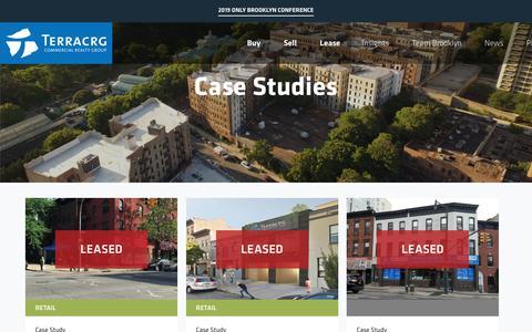 Screenshot of Case Studies Page terracrg.com - Case Studies Archive – TerraCRG - captured Oct. 20, 2018
