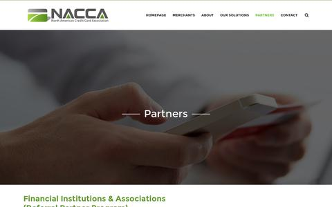 Screenshot of Developers Page nacca.com - Partners - NACCA | North American Credit Card Association - captured Dec. 3, 2016