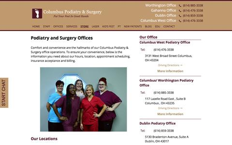 Screenshot of Hours Page columbusfoot.com - Columbus Podiatry & Surgery Offices | Columbus Foot Doctor - captured Dec. 9, 2017