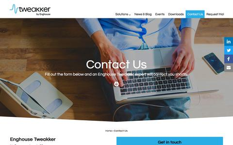 Screenshot of Contact Page tweakker.com - Contact Us - Tweakker - captured Sept. 21, 2018