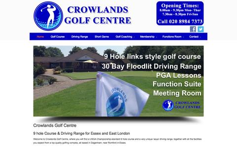 Screenshot of Home Page crowlandsheath.co.uk - Crowlands Heath Golf Club and Driving Range Romford Dagenham Essex - captured Oct. 3, 2014