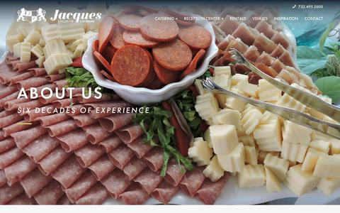 Screenshot of About Page jacquescatering.com - About | Jacques Exclusive Catering - captured Oct. 1, 2018