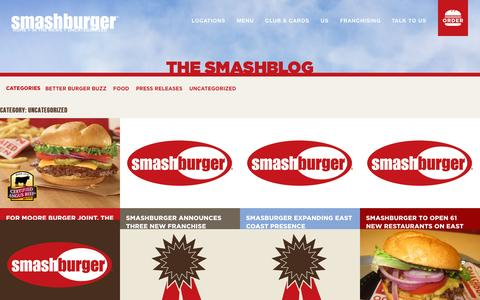 Screenshot of Press Page smashburger.com - Uncategorized Archives - Smashburger - captured Oct. 1, 2015