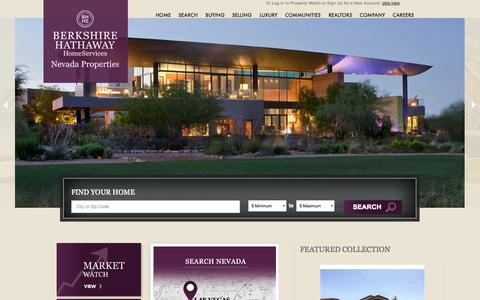Screenshot of Home Page bhhsnv.com - Las Vegas Homes - captured Sept. 19, 2014