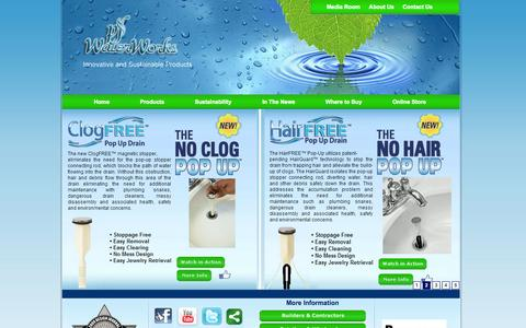 Screenshot of Home Page pfwaterworks.net - Welcome to permaflow company - captured Sept. 17, 2014