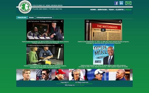 Screenshot of Press Page psr-inc.net - PSR, Inc. | Professional Sports Representation, Inc. - captured Sept. 26, 2014