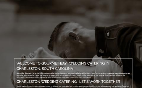 Screenshot of Home Page gourmetbay.net - Gourmet Bay Wedding Catering | Charleston SC - captured Oct. 2, 2014