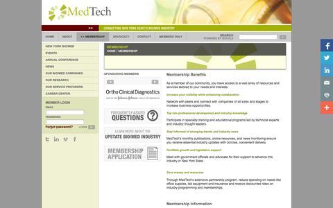 Screenshot of Signup Page medtech.org - Membership - Medtech - captured Oct. 27, 2014