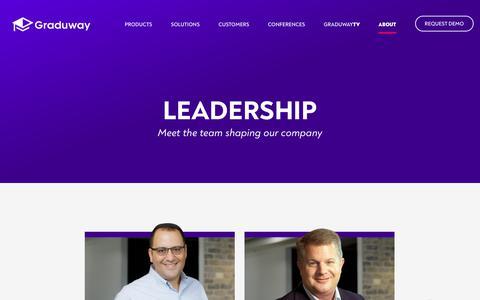Screenshot of Team Page graduway.com - Leadership – Graduway - captured Aug. 23, 2019