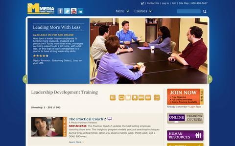 Screenshot of Team Page media-partners.com - Leadership Development Training - captured Feb. 12, 2016
