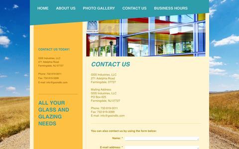 Screenshot of Contact Page gssindllc.com - GSS Industries, LLC - Contact Us - captured Oct. 18, 2016