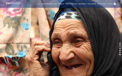 Screenshot of Home Page evapharma.com - EvaPharma - captured Oct. 17, 2015