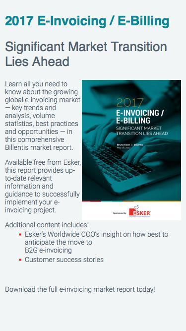 2017 E-Invoicing/E-Billing Market Report | Esker