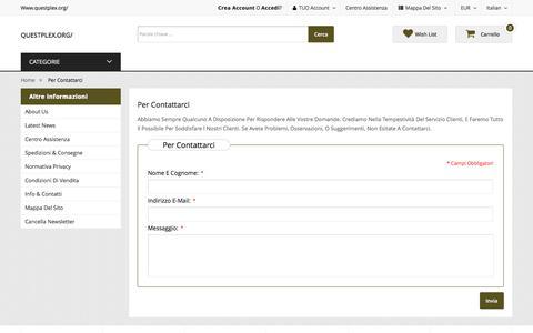 Screenshot of Contact Page questplex.org - Per contattarci : questplex.org/ - captured Feb. 19, 2018
