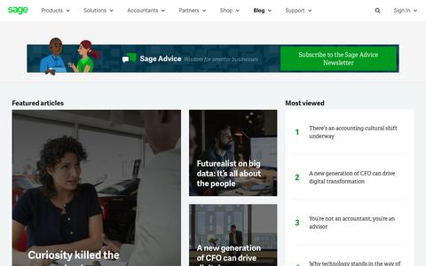 Screenshot of Blog sage.com - Sage Advice South Africa | Wisdom for smarter businesses - captured July 17, 2019