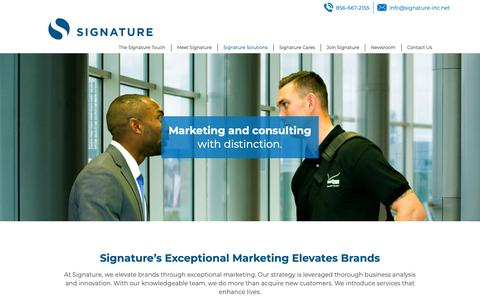 Screenshot of Services Page signature-inc.net - Signature's Exceptional Marketing Elevates Brands - captured Oct. 20, 2018