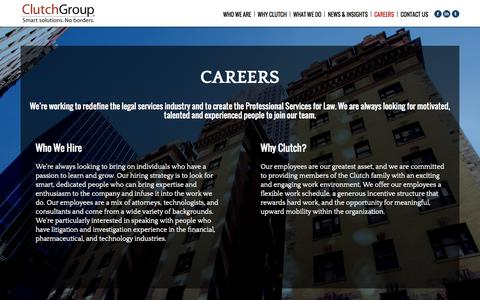 Screenshot of Jobs Page clutchgroup.com - Careers | Clutch Group - captured Sept. 30, 2014