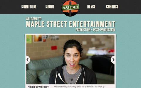 Screenshot of Home Page maplestreetent.com - Maple Street Entertainment - captured Oct. 6, 2014