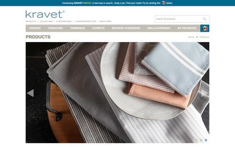 Screenshot of Products Page kravet.com - Products   Kravet.com - captured Aug. 9, 2016