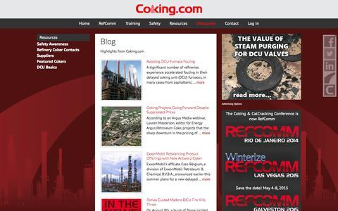 Screenshot of Blog coking.com - Blog - captured Oct. 3, 2014