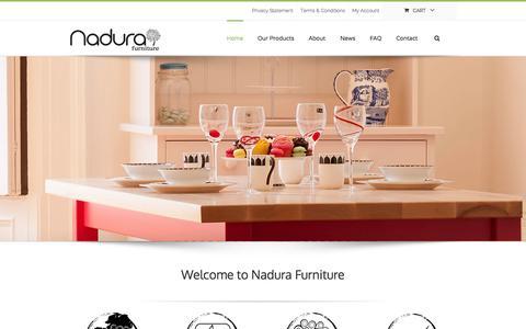 Screenshot of Home Page nadurafurniture.ie - Custom and Bespoke Furniture: Nadura Furniture - captured Jan. 25, 2015