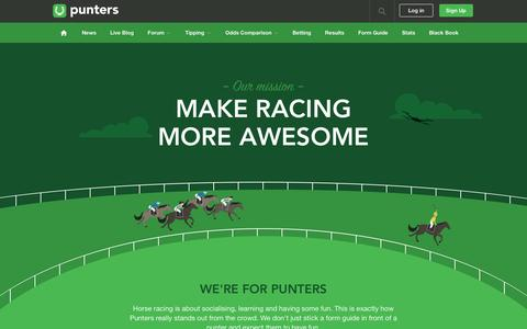 Screenshot of About Page punters.com.au - About the crew at Punters.com.au - captured Feb. 3, 2017
