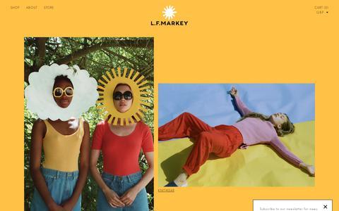 Screenshot of Home Page lfmarkey.com - LF Markey                      – LF MARKEY - captured Dec. 7, 2018